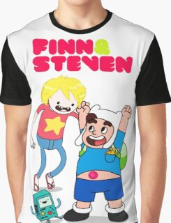 Adventure TIme Finn and Steven Universe Graphic T-Shirt