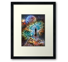 Chaplin & The Nebula Framed Print