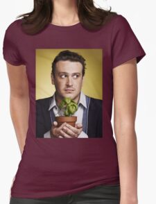 marshall eriksen holding a plant Womens Fitted T-Shirt