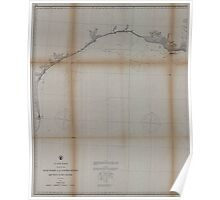Civil War Maps 0475 Gulf coast of the United States Key West to Rio Grande Poster