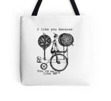 An amusing kind of man Tote Bag