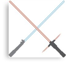 Kylo Ren and Rey Lightsabers Canvas Print