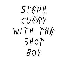 Curry Drake Shot (Black) Photographic Print