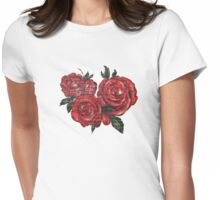 Graffiti Tees-4- ROSES! Womens Fitted T-Shirt