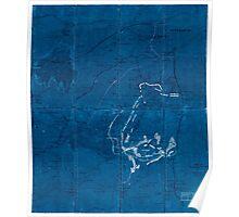Civil War Maps 1282 Petersburg Inverted Poster