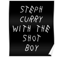 Curry Drake Shot (White) Poster