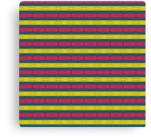 Primary Colors Pattern #2 Canvas Print