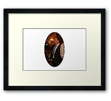 barney getting wasted  Framed Print