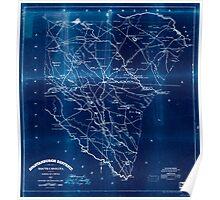 Civil War Maps 1699 Spartanburgh District South Carolina Inverted Poster
