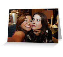 lily and robin (best night ever)  Greeting Card