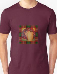 Young Girl Flirting Tease Me in Tartan With Border T-Shirt