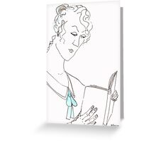 Reading woman Greeting Card