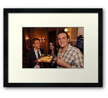 marshall, robin and barney (best night ever)  Framed Print