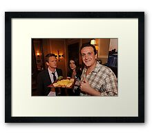 marshall, robin and barney (best night ever)  Framed Print