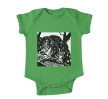 Australian Endangered Spotted-tail Quoll Lino Print One Piece - Short Sleeve
