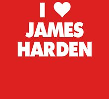 I LOVE JAMES HARDEN Houston Rockets Basketball Womens Fitted T-Shirt
