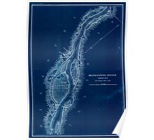 Civil War Maps 1166 Mississippi River from Cairo Ill to St Marys Mo in VI sheets 02 Inverted Poster