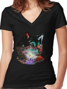 Hauwl Women's Fitted V-Neck T-Shirt