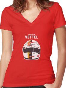 Sebastian Vettel - Ferrari Women's Fitted V-Neck T-Shirt