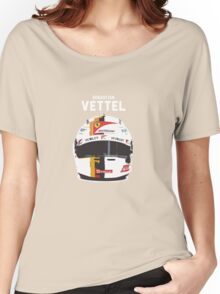 Sebastian Vettel - Ferrari Women's Relaxed Fit T-Shirt