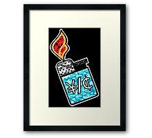 YUNG LIGHTER Framed Print
