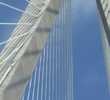 Southern Skyscraper ~ The Ravenel Bridge  Sticker