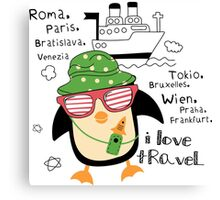 penguin-traveler!) Canvas Print