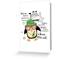 penguin-traveler!) Greeting Card