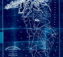 Civil War Maps 0472 Greenville District South Carolina Inverted by wetdryvac