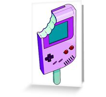 Raspberry Tart Gameboy Greeting Card