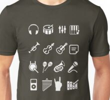 musical instruments icon Unisex T-Shirt