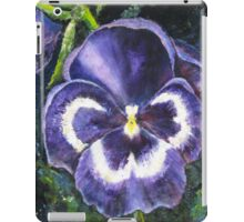 The Giant Purple Pansy Acrylic Painting iPad Case/Skin