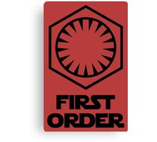 Star Wars - The First Order Symbol Canvas Print