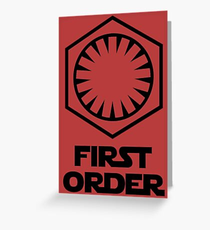 Star Wars - The First Order Symbol Greeting Card
