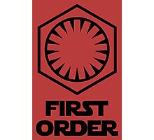 Star Wars - The First Order Symbol Photographic Print