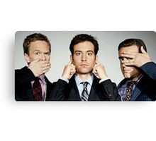 barney, ted and marshall Canvas Print