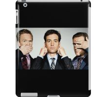 barney, ted and marshall iPad Case/Skin