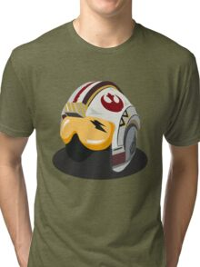 Star Wars Rebel Alliance Fighter Helmet Tri-blend T-Shirt