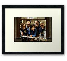 cast of himym Framed Print
