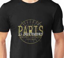 u2 ietour Paris  november 11th 2015 Unisex T-Shirt