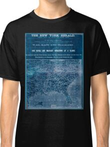 Civil War Maps 1906 War maps and diagrams Inverted Classic T-Shirt