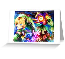 Link and Skull Kid - Legend of Zelda Greeting Card