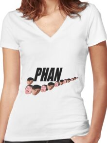 Phan ( Dan and Phil ) Nike Meme Women's Fitted V-Neck T-Shirt
