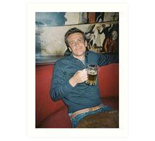 marshall eriksen drinking beer Art Print