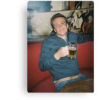 marshall eriksen drinking beer Canvas Print