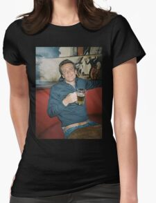 marshall eriksen drinking beer Womens Fitted T-Shirt