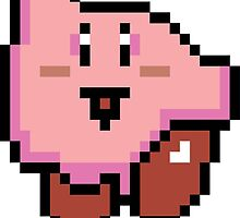 Kirby nintendo pixel by GrouchyDesigns