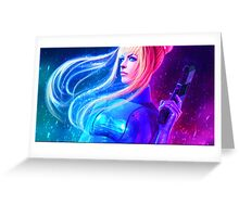 Samus Aran Zero Suit - Metroid Greeting Card