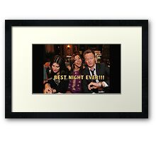 robin, lily and barney (best night ever)  Framed Print