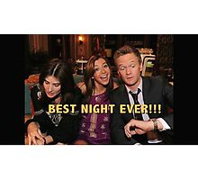 robin, lily and barney (best night ever)  Photographic Print